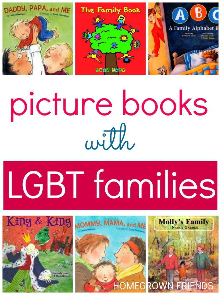 Picture Books that depict gay and lesbian families and characters