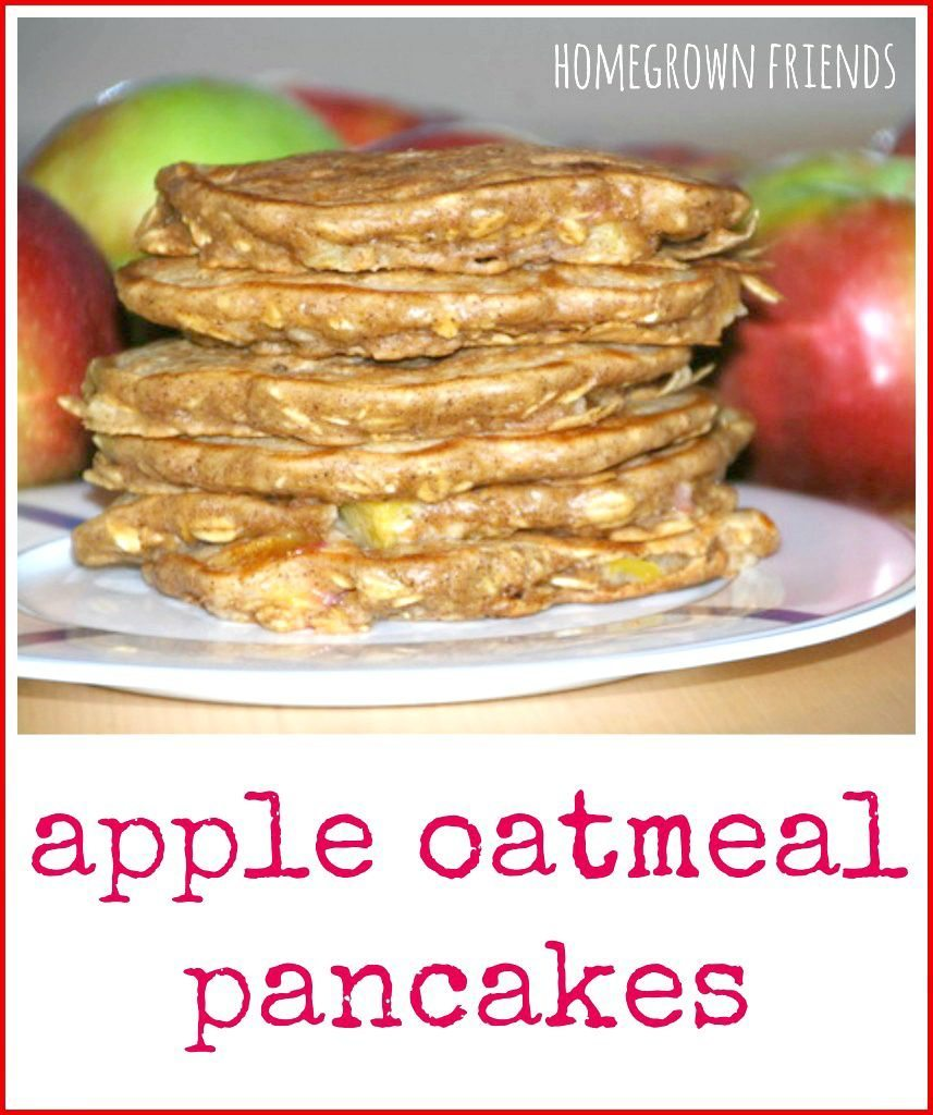 easy homemade apple oatmeal pancakes