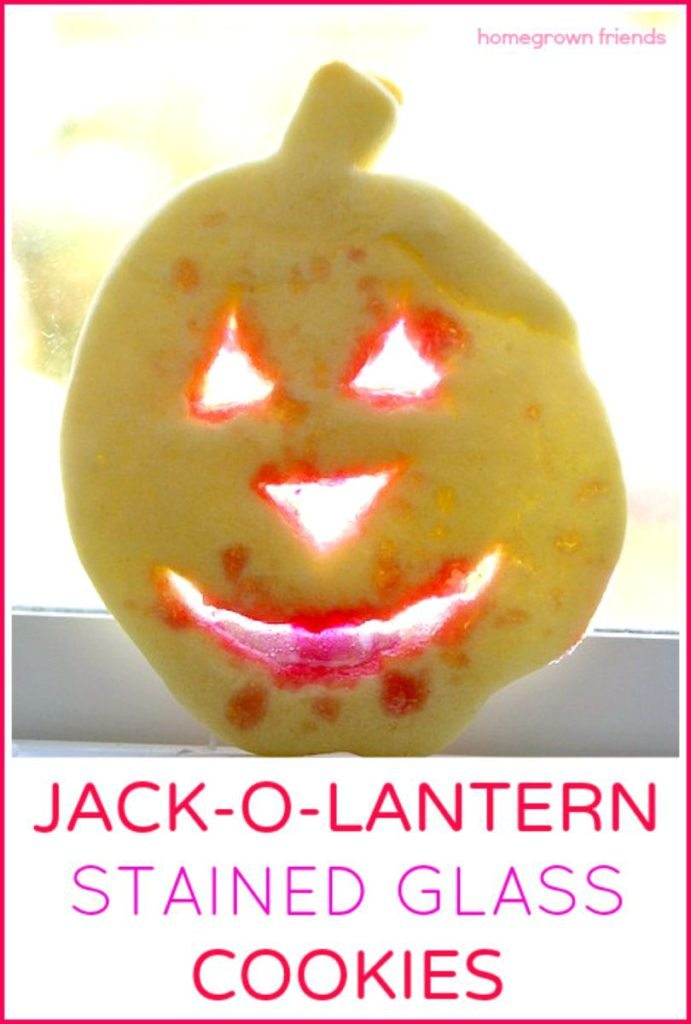 Jack-o-Lantern Stained Glass Cookies