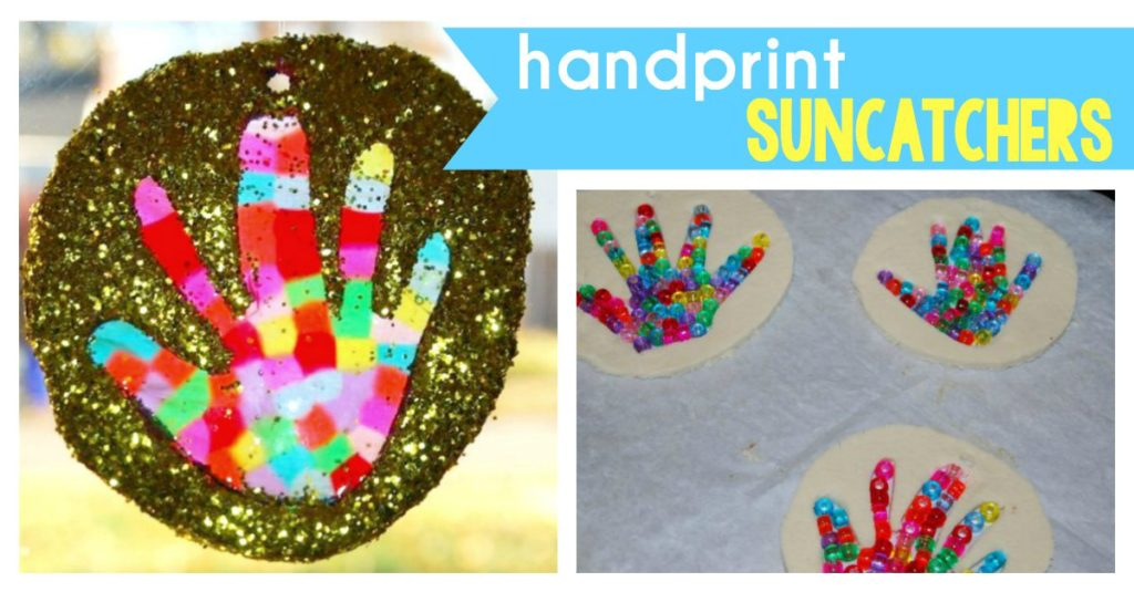 Melted Beads Handprint Suncatchers