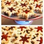 Snowflake Butter Cookies with Jam Filling