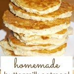 Homemade Buttermilk Oatmeal Pancakes