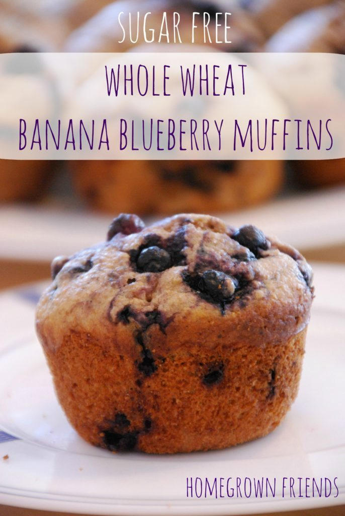 we are in love with these whole wheat banana blueberry muffins from Homegrown Friends!