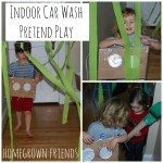 Indoor Car Wash Pretend Play