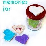 Loving Memories Jar with Homemade White Clay Hearts