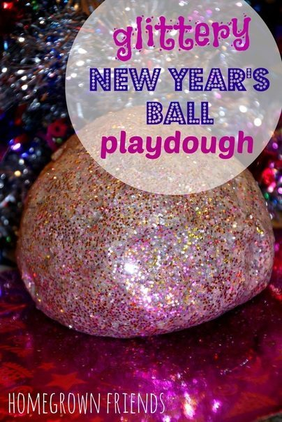 Glittery New Year S Ball Playdough Homegrown Friends