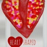Heart Shaped Footprint Suncatchers