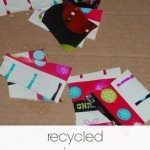 Recycled Wrapping Paper Collages