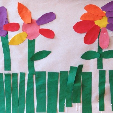 Easy Construction Paper Spring Murals