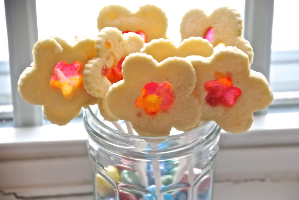 Stained Glass Flower Cookie Pops - Homegrown Friends