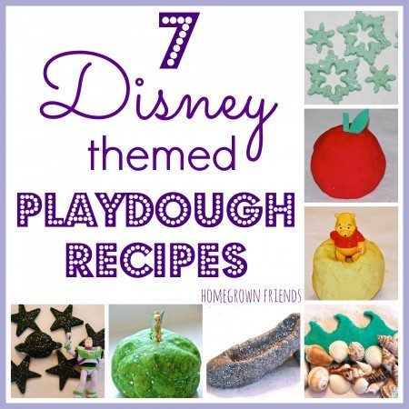 7 Disney Themed Playdough Recipes
