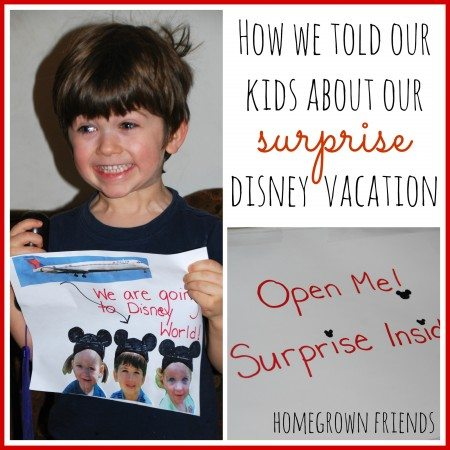 How We Told Our Kids About Our Surprise Disney Vacation