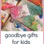 goodbye gifts for kids: easing anxiety while you parents are away- Great ideas from Homegrown Friends!