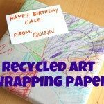 Recycled Art Wrapping Paper