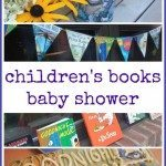 very creative children's books baby shower from Homegrown Friends