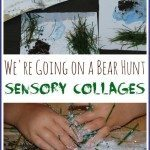 Bear Hunt Sensory Collages