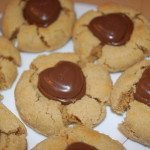 Peanut Butter Chocolate Heart Cookies