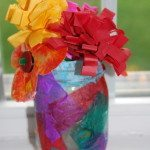 DIY Tissue Paper Flower Bouquet and Vase