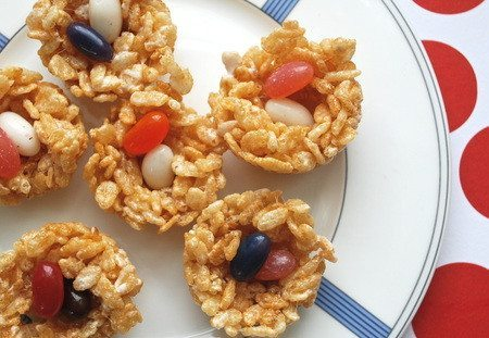 Rice Krispie Treat Bird Nests