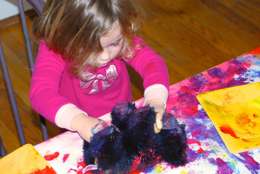 Exploring Painting with Stuffed Animals
