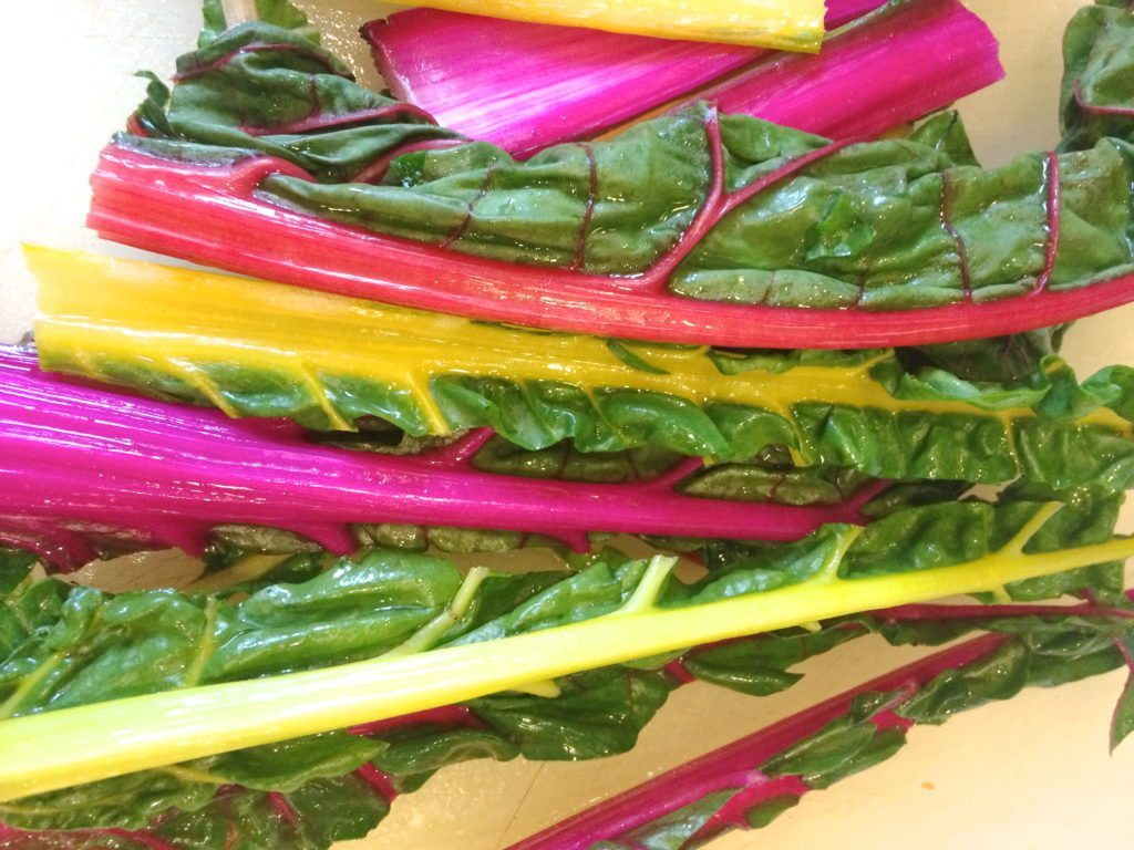 gorgeous rainbow swiss chard for lentil swiss chard soup