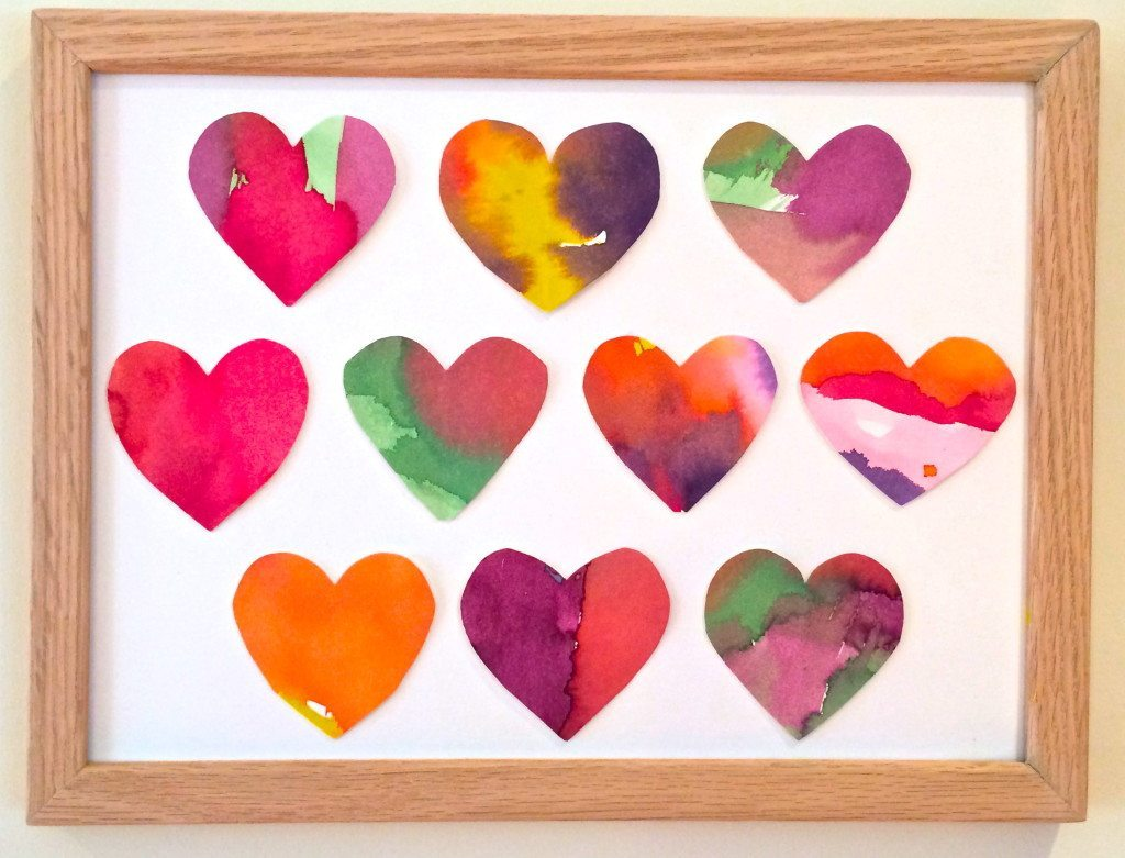 Love this Watercolor Heart Art from Homegrown Friends!