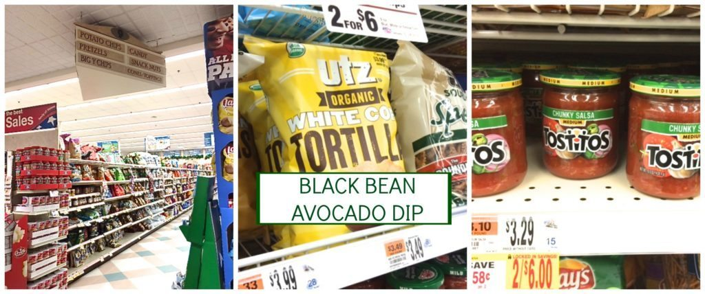 all the ingredients for black bean avocado dip are found in the aisles of Big Y
