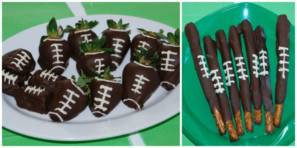 chocolate sweet treats are part of the football recipes and party planning