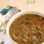 delicious lentil swiss chard soup recipe from Homegrown Friends
