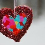 Heart Salt Dough Suncatchers
