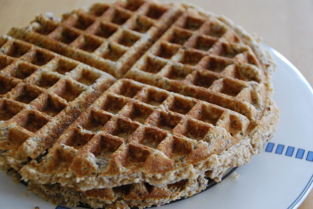 My kids LOVE these healthy almond oat waffles from Homegrown Friends!