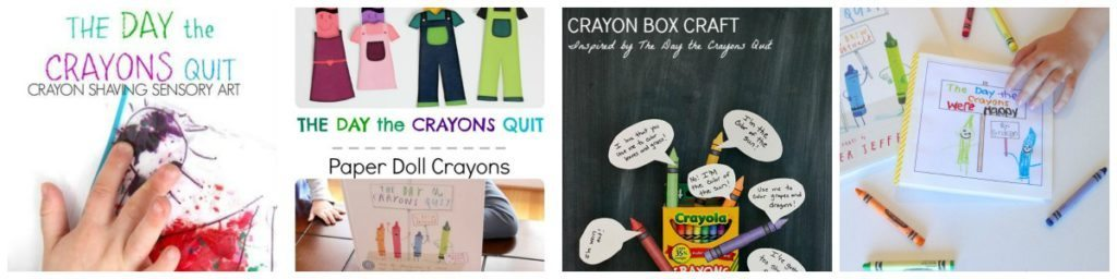 4 activities to explore the book The Day the Crayons Quit
