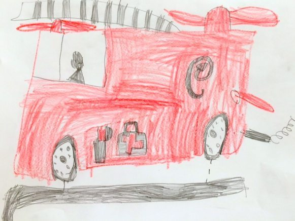 one of the drawings for The Day the Crayons Quit Writing Activity