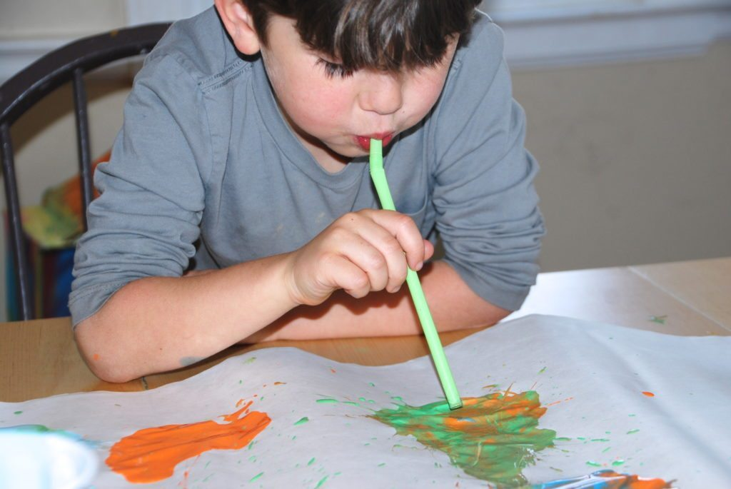 creating a Beautiful Oops Straw Blow Painting