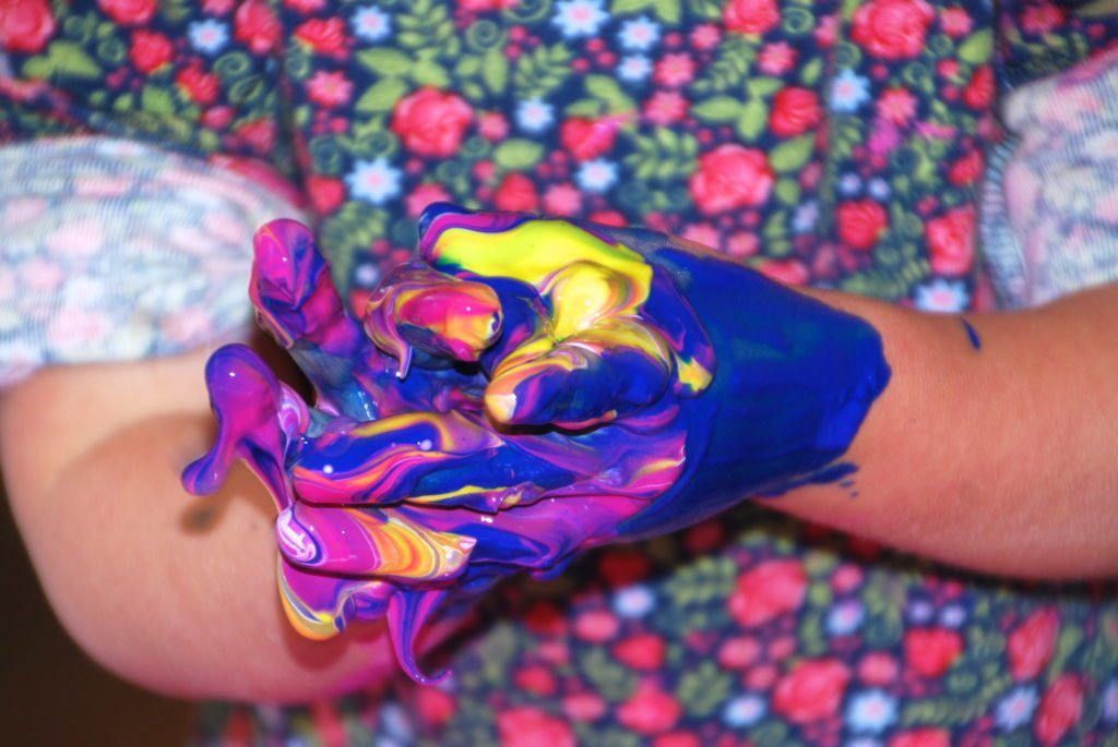 exploring the senses is one of the 5 reasons to fingerpaint with older children