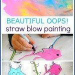 Beautiful Oops Straw Blow Painting