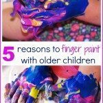 Reasons to Finger Paint with Older Children
