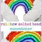 rainbow melted bead salt dough suncatcher