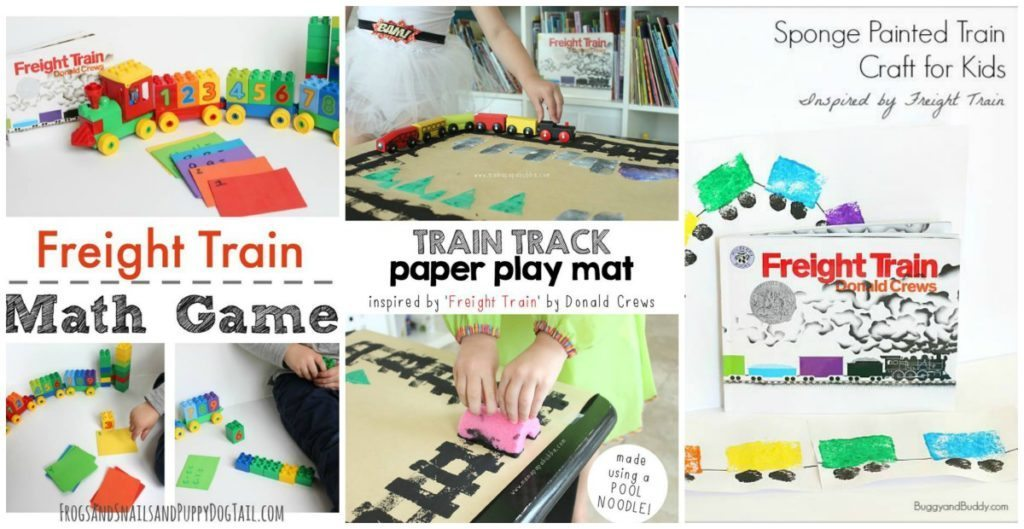 3 Freight Train Activities for Preschool Book Club