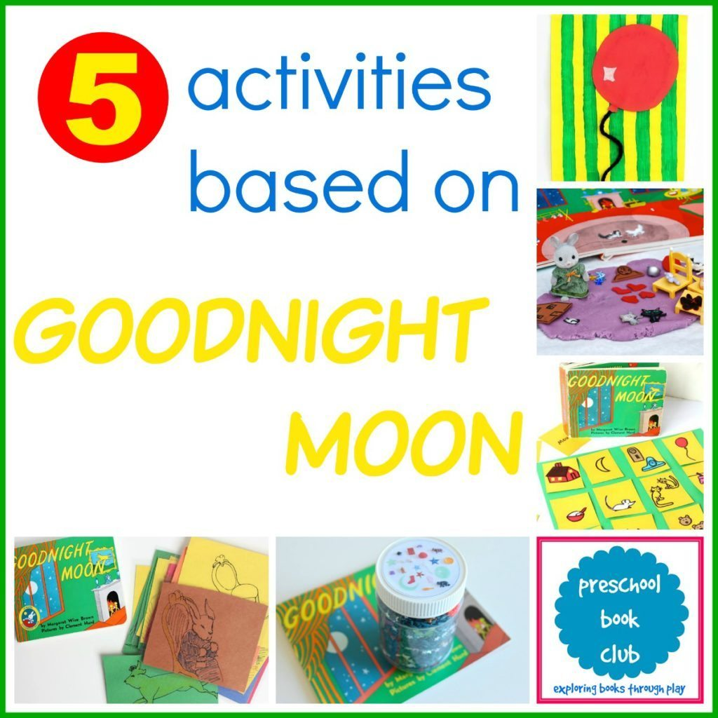 5 Goodnight Moon Inspired Activities from the Preschool Book Club #preschoolbookclub