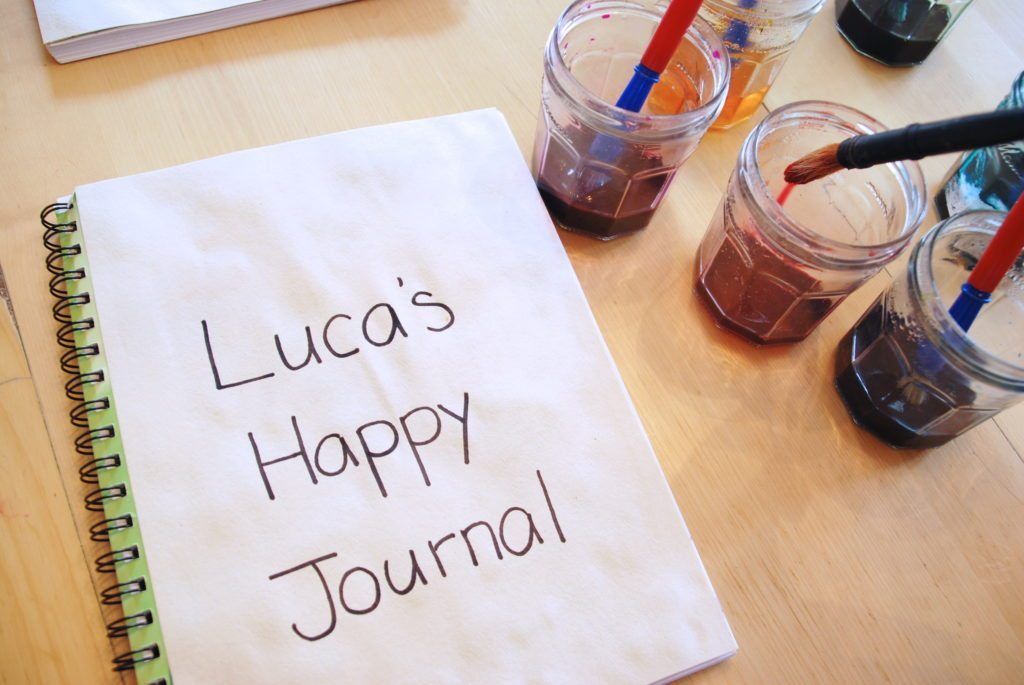 Setting up the Happy Thoughts Journal for Kids