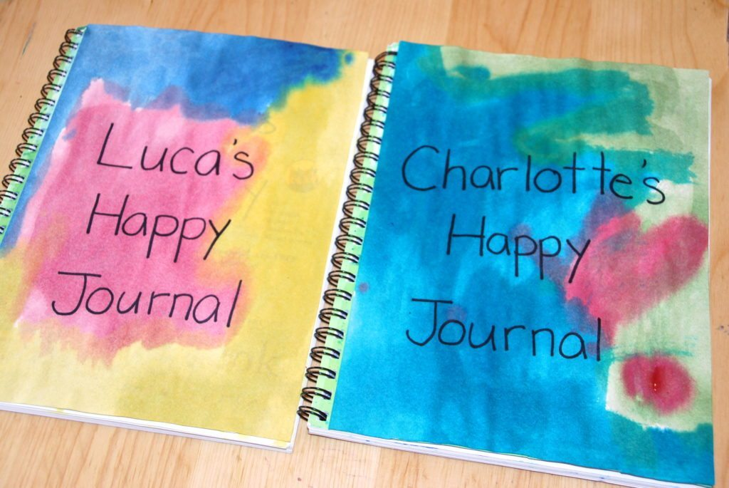 covers of the happy thoughts journals for kids