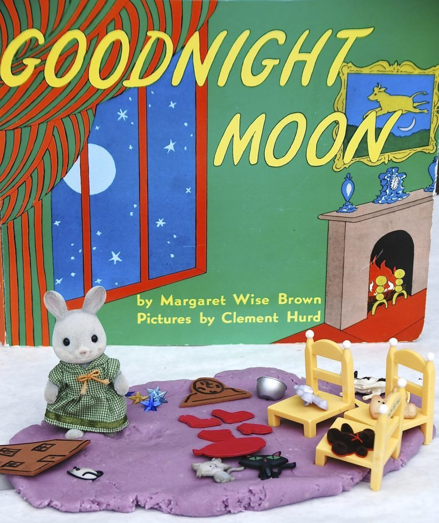 Goodnight Moon Lavender Playdough is a wonderful way to explore the book through play #preschoolbookclub