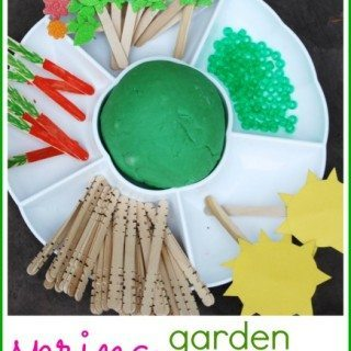 Spring Garden Playdough