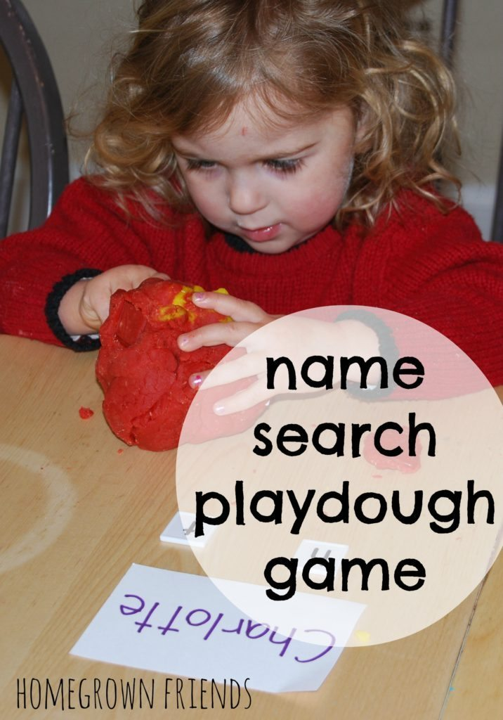 Name Search Playdough Game