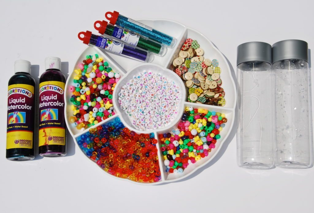 Materials for Happy Thoughts Relaxation Sensory Jars