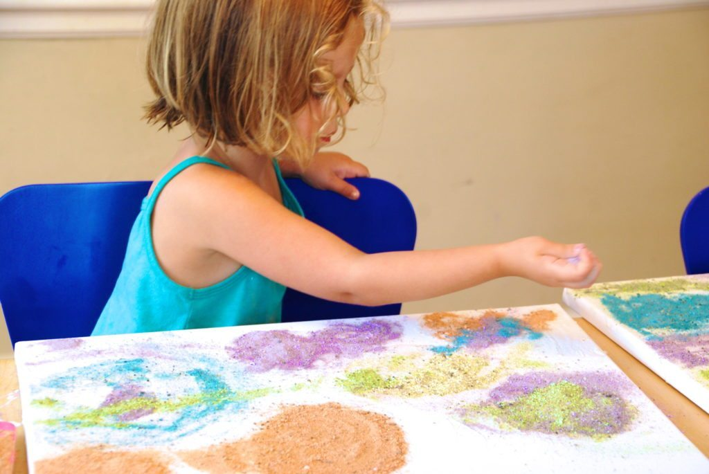 Colored Sand Process Art