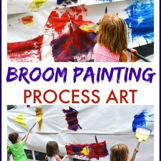 Broom Painting Process Art
