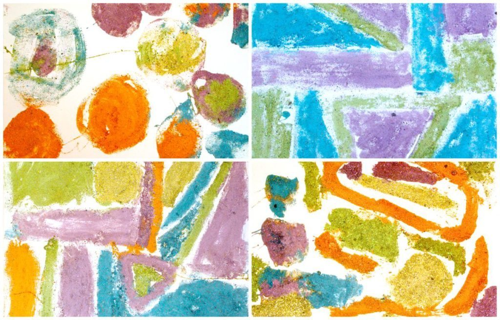 Examples of Colored Sand Process Art
