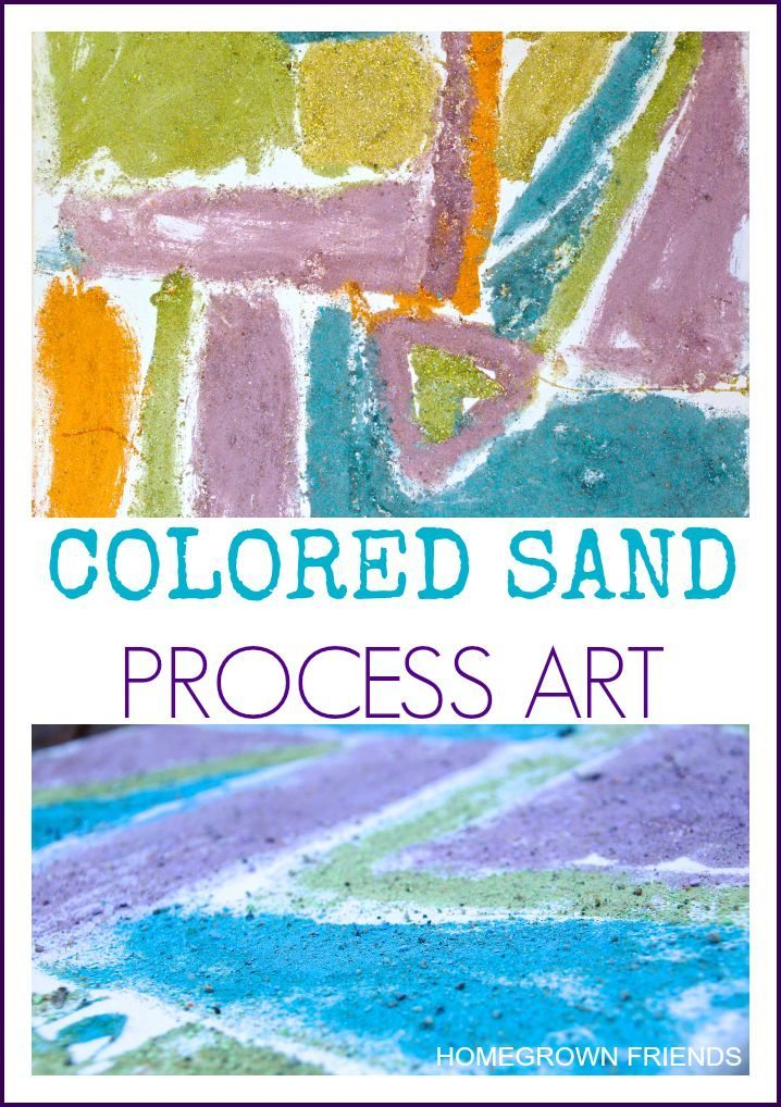 Colored Sand Process Art with technique by Nurturestore